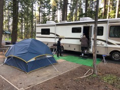 The RV and the tent